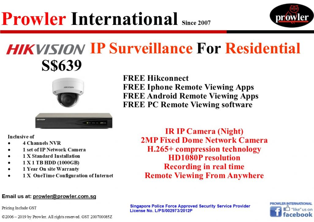 CCTV Singapore Package - 1 IP HD 1080P Camera