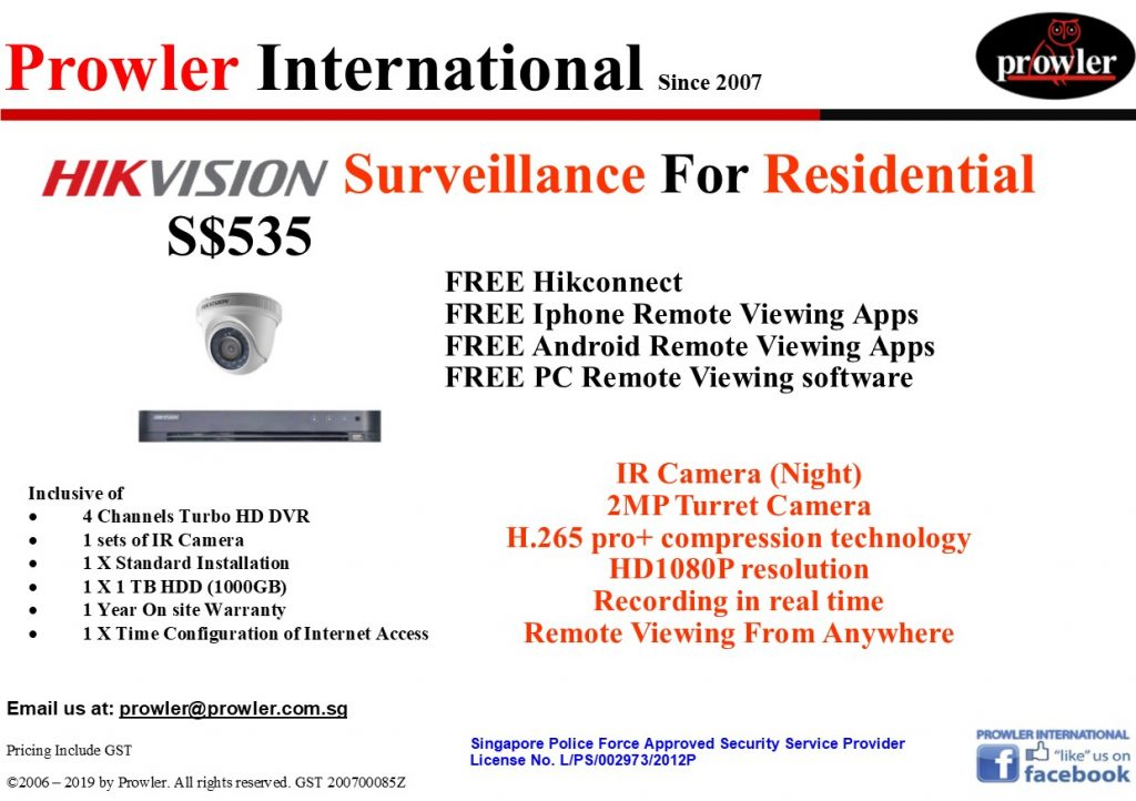 CCTV Singapore Package - 1 Turbo HD Camera